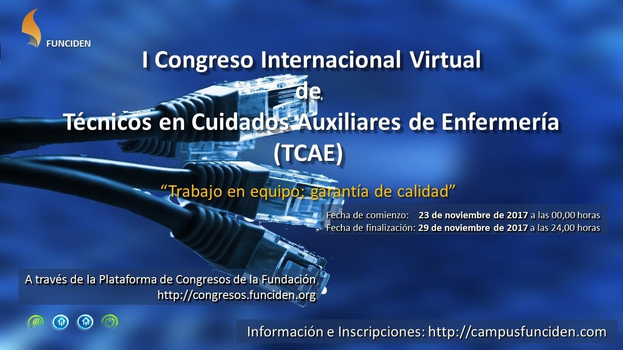 I Congreso Internacional Virtual de Técnicos en Cuidados Auxiliares de Enfermería (TCAE)