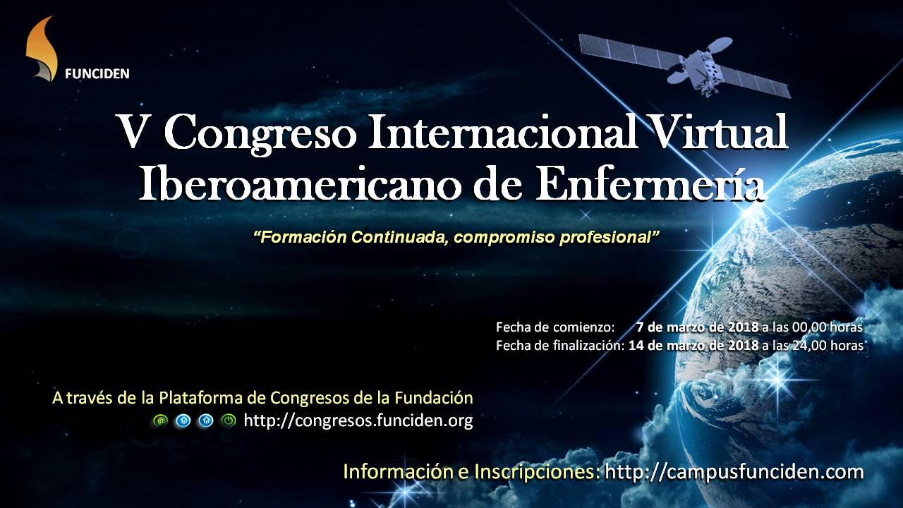 V Congreso Internacional Virtual Iberoamericano Enfermería 2018