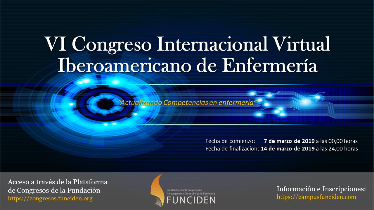 VI Congreso Internacional Virtual Iberoamericano de Enfermería 2019